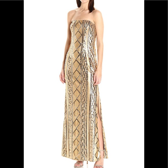Adrianna Papell Dresses & Skirts - New Adrianna Papell strapless Sequin cable gown
